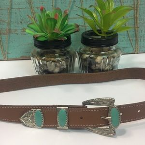 5/$25 Turquoise accent brown belt